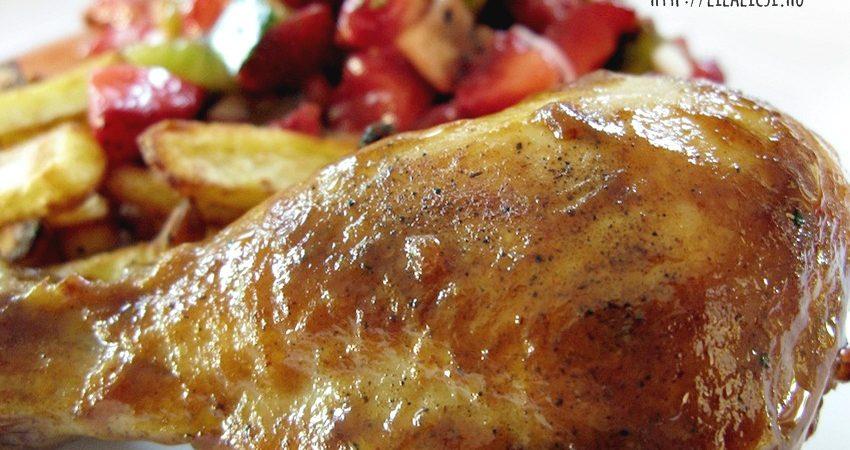 Barbecue szószos csirkecombok