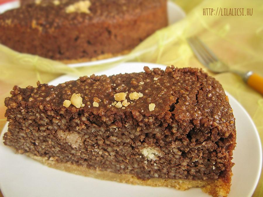 Kuszkuszos csokoládé torta