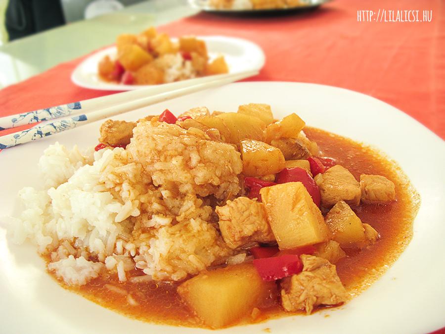 Kínai édes-savanyú csirke - LilaLicsi.hu