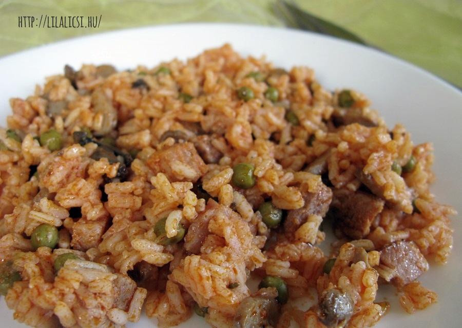 Tavaszi rizses hús