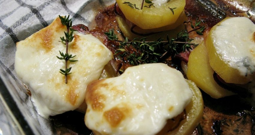 Burgonya sajttal recept