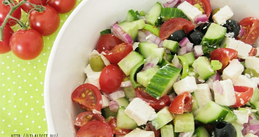 Görög saláta recept