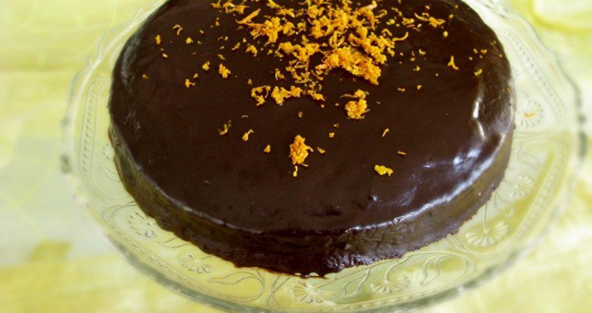 Vegán csokoládétorta narancsos csokoládéval
